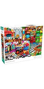 Aimee Stewart - Pizza Arcade - 1500 Piece Jigsaw Puzzle