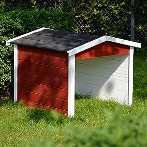 Dobar 56199e Mähroboter Garage Aus Holz Rasenroboter Carport