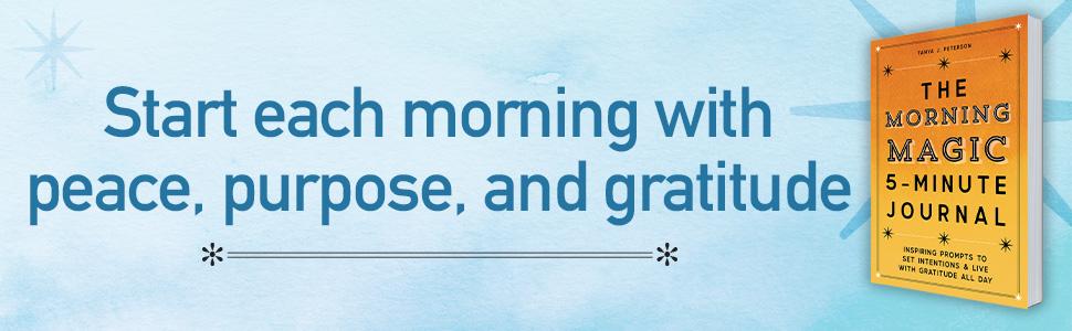 5 minute journal, morning journal, journal, mindfulness, gratitude journal