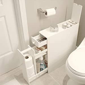 Furniture;Storage;Small;Wood;Cabinet;White;Bathroom;Floor;