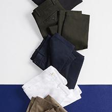 various men's dress pants