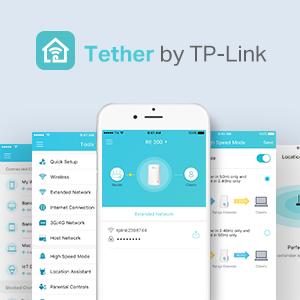 tether app,  tp-linik, gestione rete, connessione wireless