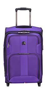 delsey luggage carry-on sky max suitcase