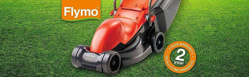 Flymo Easimo Electric Wheeled Rotary Lawnmower Orange//Black by Flymo 900 W