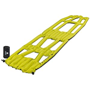 full sized, hi-lighter yellow, sleeping pad, x frame