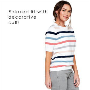 relaxed fit with decorative cuffs