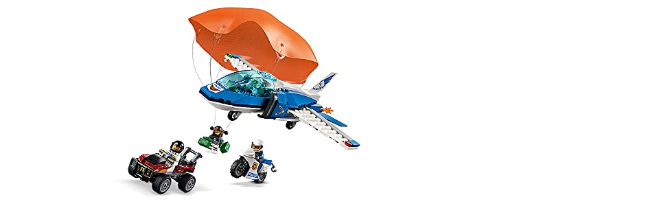 LEGO City Sky Police Parachute Arrest 60208 Building Kit, 2019 (218 Pieces)