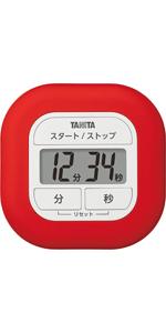 タニタ タイマー くるっとシリコーンタイマー レッド TD-420-RD きれいにラップがつけられる