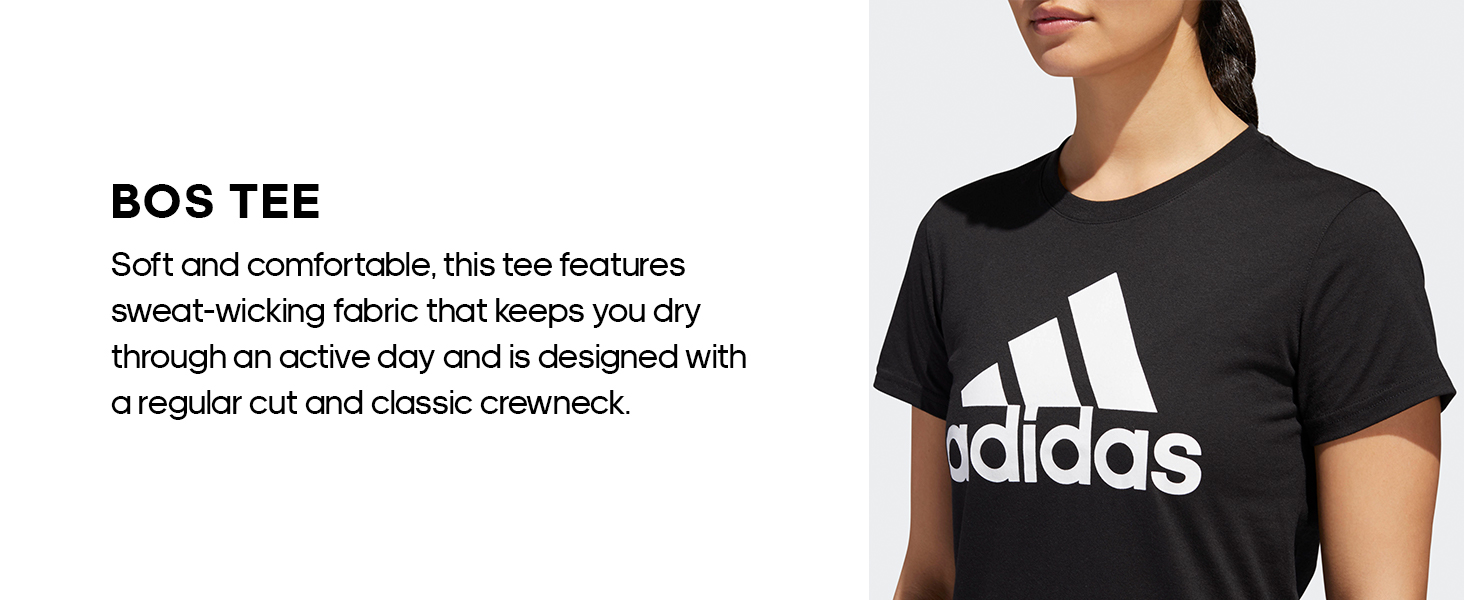 11807e4815db8 adidas Women's Badge Of Sport Classic Graphic Tee