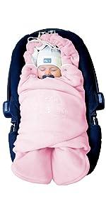 """Baby Winter-Einschlagdecke """"Das Original mit dem Bären"""", Universal für Babyschale, Autositz, z.B. fü"""