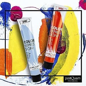 PostQuam - Mascarilla Color Expression, Tinte temporal de pelo - Color Cobre - Pack de 3 unidades - 60 gr
