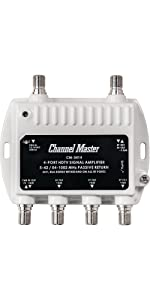 Channel Master, Distribution, Amplifier, Preamplifier, Signal Booster, TV Antenna, Cable, Drop Amp
