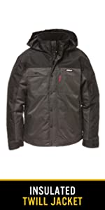 Cat, caterpillar, workwear, insulated, jacket, windproof, water resistant