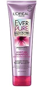 Ever, color treated hair, sulfate free, shampoo, loreal