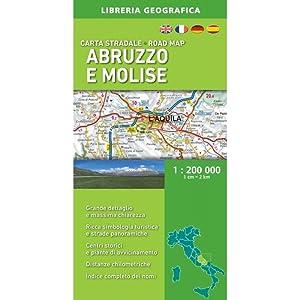 Carta Stradale Abruzzo e Molise 1: 200 000 Ediz. 2018