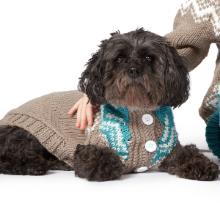 Bernat Super Value Yarn Fair Isle Knit Dog Coat