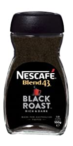 Nescafe,blend 43,coffee,australian made,soluble,coffee beans,starbucks,nespresso,moccona,vittoria