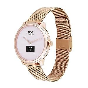 hybrid damenuhr smartwatch android mit whatsapp smart watch uhr damen smartwatch gold damenuhren