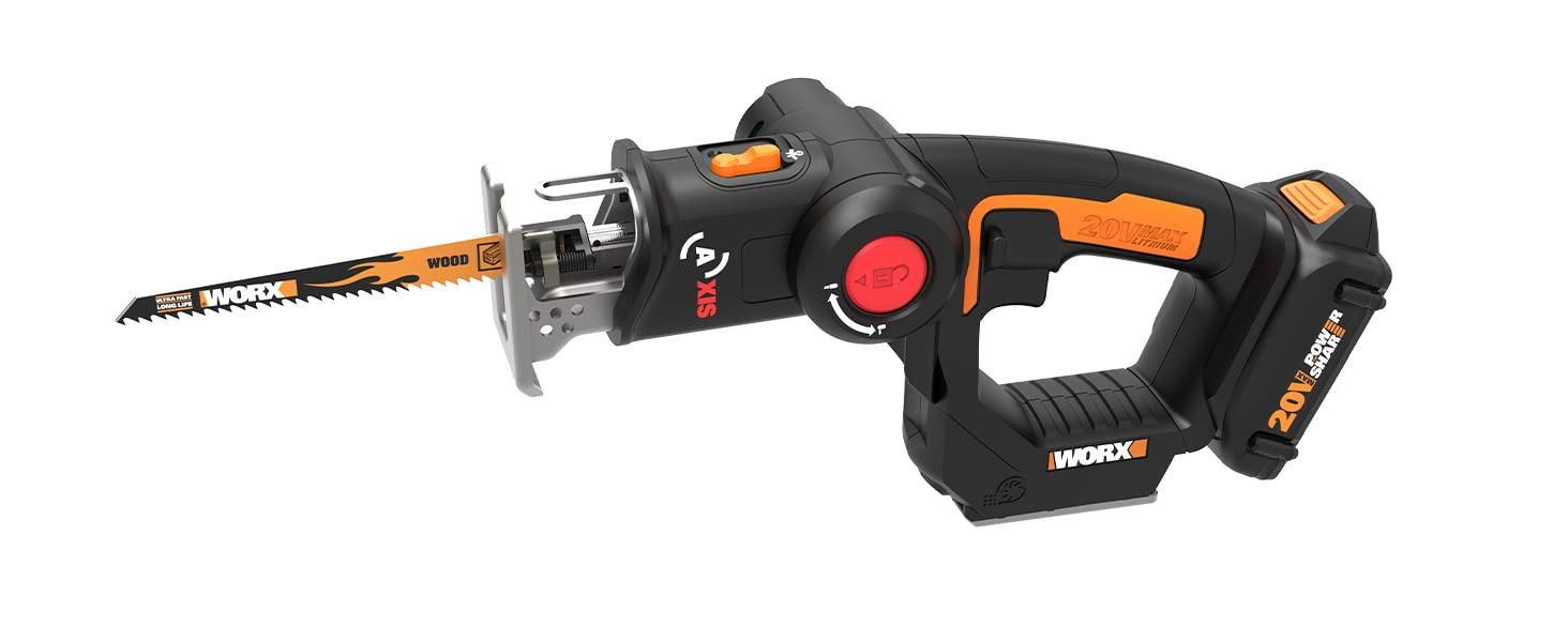 key features and benefits of the worx axis jig saw reciprocating saw
