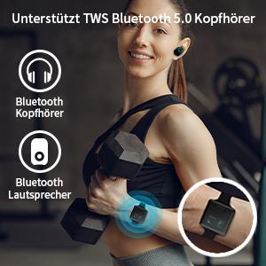 Green SEWOBYE Voller Touchscreen MP3 Player Bluetooth Speicher Erweiterbar Bis 128 GB MP3 Player Fitness Bluetooth MP3 Player Sport mit Schrittz/ähler//FM Radio//Timer