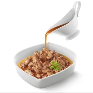 comida en salsa; purina; gourmet; carne en salsa; comida para gato;