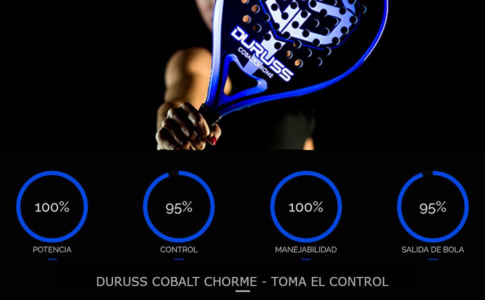 Duruss Profesional Cobalt Chrome Pala de Pádel, Adultos Unisex ...