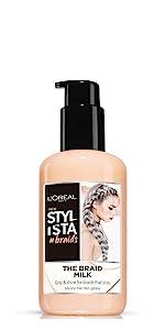 prodotti per trecce, trecce style, styling capelli, latte capelli, prodotti styling, latte idratante