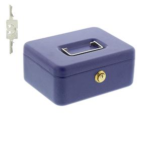 BURG-W/ÄCHTER Geldkassette mit Zylinderschloss Stahlblech Blau Universa CKS 167