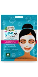 yes to;yes to sheet mask;yes to cotton;cotton mask;cotton sheet mask;paper mask