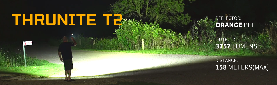 ThruNite T2 3500 high lumens flashlight