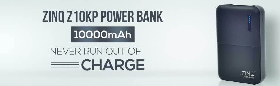 ZINQ Technologies Z10KP 10000mAH Lithium Polymer Power Bank