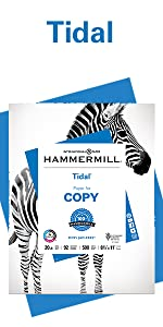 Ream of Hammermill Tidal 20lb letter size print and copy paper, 500 sheets, Made in USA