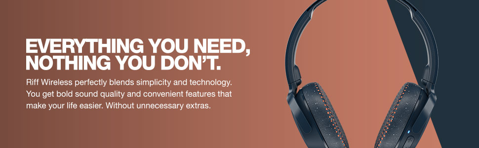 Riff Wireless On-Ear Headphones Description