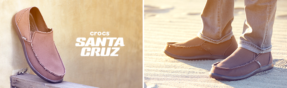 Santa Cruz Canvas Linen Slip On Loafer