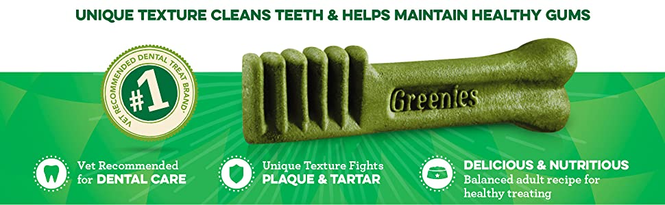 Unique Texture, Healthy Teeth and Gums, Dental Care, Vet Recommended, Plaque, Tartar, Delicious