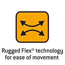 RuggedFlex technology for ease of movement