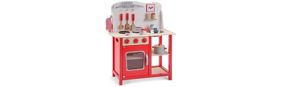 Amazon.com: New Classic Toys Cocina Bon Appetit Childrens ...