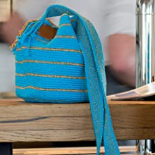 stripe,stripy,simple bag,duffle bag,wayuu,mochilla,crochet,