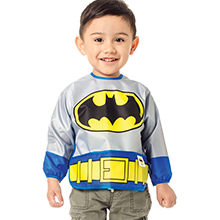 batman bib with sleeves