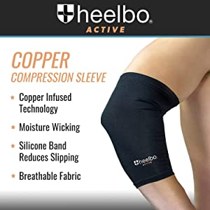 copper compression, elbow sleeve, elbow brace