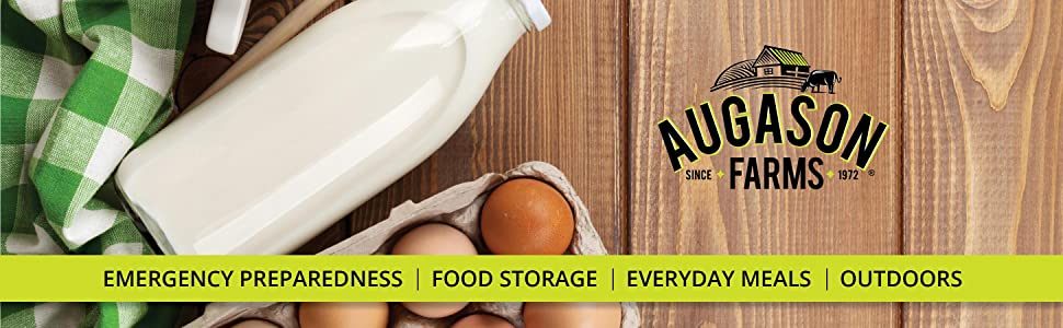 Augason Farms Emergency Preparedness Food Storage Dairy Egg Milk