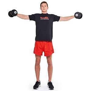 Levantamientos laterales. Usa tus mancuernas York Fitness de ...