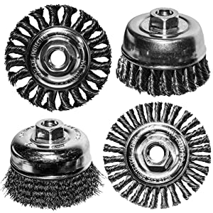 "Century Drill and Tool 76064 Industrial Wire Wheel Brush 6/"" Case of 2"