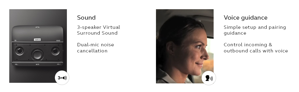 Jabra Freeway voice guidance speaker phone