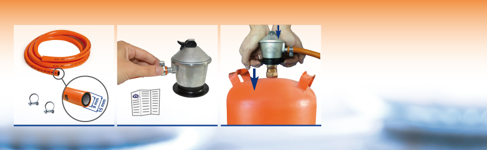 instalacion regulador tubo homologado gas butano saneaplast