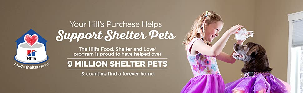 Your Hill's Purchase Helps Support Shelter Pets