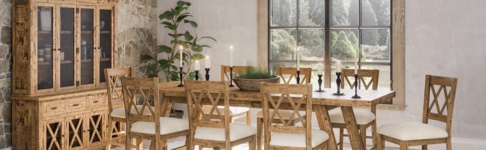 Jofran Telluride Solid Wood Dining Set