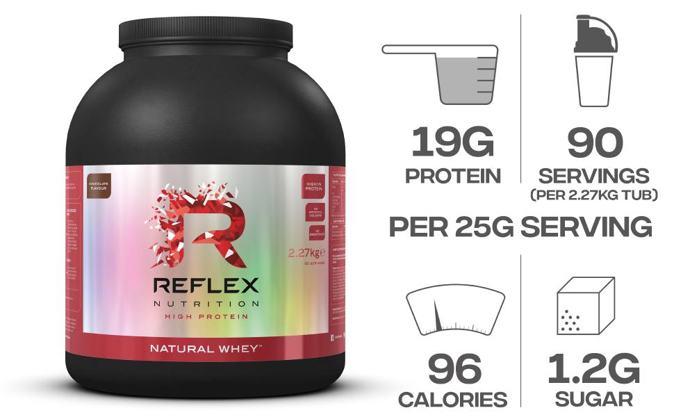 Reflex Nutrition Polvo De Proteínas De Suero Natural Reflex ...
