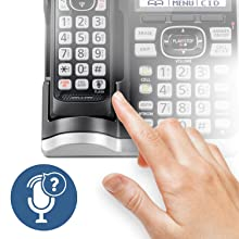 PANASONIC Link2Cell Bluetooth Cordless Phone System with Voice Assistant,  Call Blocking and Answering Machine  DECT 6 0 Expandable Cordless System -  4