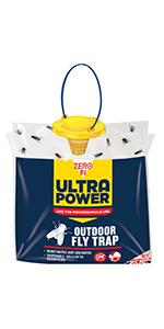 zero in, zero in ultra power, outdoor fly trap, fly catcher, fly trap
